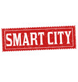 smart city grunge rubber stamp vector image vector image