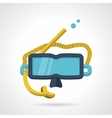 Snorkeling mask flat icon vector image vector image