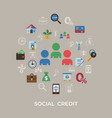 social credit and banking payment icons vector image vector image