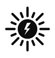 solar energy icon simple style vector image