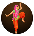 solo dance performed by girl in silk shirt and vector image vector image