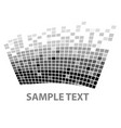 squares texture mono sample iii vector image vector image
