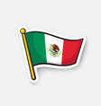 sticker national flag mexico vector image