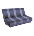 striped sofa icon cartoon style vector image