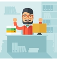 Successful office clerk vector image