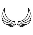 symbol wings icon outline style vector image vector image