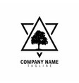 tree mountain triangle letter v and a logo symbol vector image vector image
