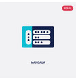 two color mancala icon from entertainment concept vector image vector image