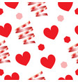 valentines day card - seamless pattern vector image