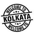 welcome to kolkata black stamp vector image vector image