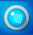 white solar energy panel icon isolated vector image vector image
