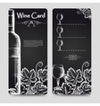 Wine card menu flyers template vector image