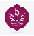 Wine shop design vector image vector image