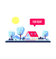 winter landscape with trees and family home vector image vector image