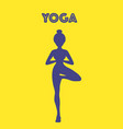 yoga word with pose icon eps10 vector image vector image