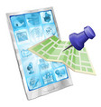 phone map app concept vector image
