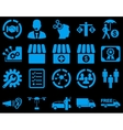 Business trade shipment icons vector image