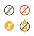 gluten free grain icons set vector image