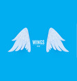3d cartoon and realictic angel white wings paper vector image