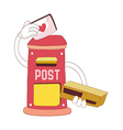 A view of postbox vector image vector image