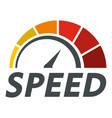 abstract speedometer logo flat style vector image vector image