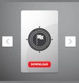 aim business deadline flag focus glyph icon in vector image vector image