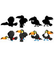 animal with its silhouette vector image vector image