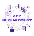 app development and design concept app vector image vector image