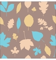 Autumn different leaves seamless pattern vector image vector image