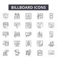 billboard line icons signs set outline vector image