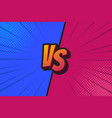blue and red fighter background versus screen vector image