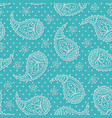 bright pattern with paisley vector image vector image