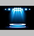 bright podium lighting spotlight graphic element vector image vector image