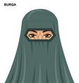 burqa beautiful arabic woman in burqa vector image vector image