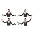 business man office job stress work vector image vector image