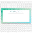 certificate isolated transparent background vector image vector image
