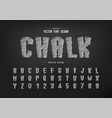 chalk font and cartoon alphabet hand draw tall vector image vector image