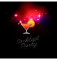 coctail party red vector image