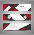 collection abstract banners with different design vector image