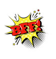 comic speech chat bubble pop art style sound vector image vector image