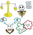 drawn picture with a pair of scales vector image vector image