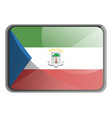 equatorial guinea flag on white background vector image vector image