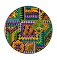 Ethnic tribal pattern in circle Mosaic mandala vector image