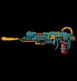 fire gun vector image vector image