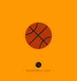 flat basketball game icon vector image