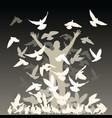flock pigeons vector image vector image