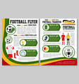 flyer for football or soccer sport match vector image vector image