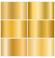 gold metallic gradient set vector image vector image