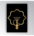 golden silhouette hookah on black art deco art vector image vector image