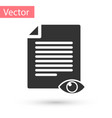 grey paper page with eye symbol icon isolated on vector image
